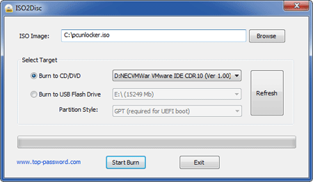 Burn ISO file to CD /USB drive